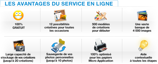 Printpratic : 100% gratuit, 4000 images. Stockage et sauvegarde. Optimis pour les papiers Micro Application