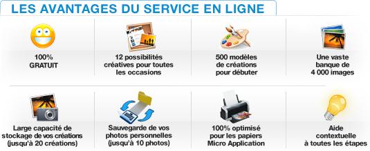 Printpratic : 100% gratuit, 4000 images. Stockage et sauvegarde. Optimisé pour les papiers Micro Application